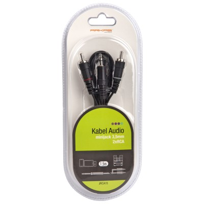 Kabel audio minijack 2 x...