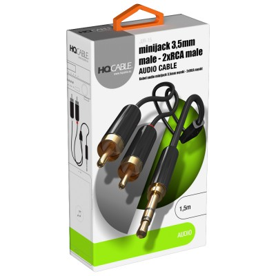 Kabel Mini Jack 3,5 mm - 2x...