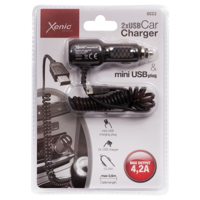 Car charger with mini USB...
