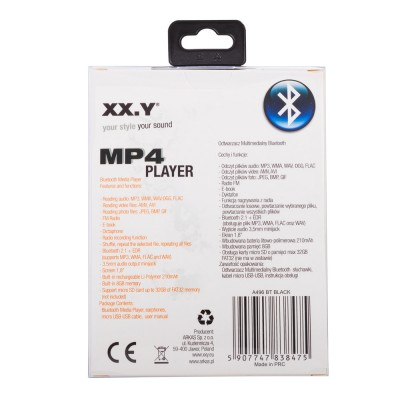 MP4 Player XX.Y A496BT - black